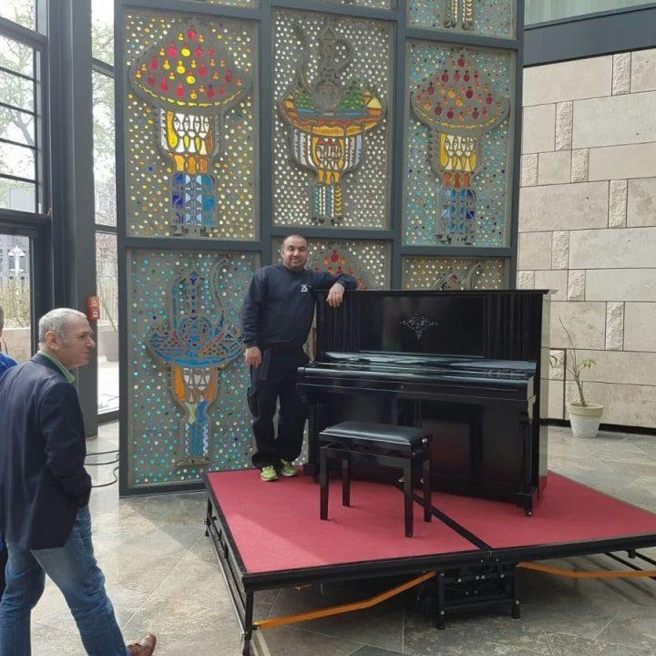 Klavier Transportiert - Türkische Botschaft Berlin